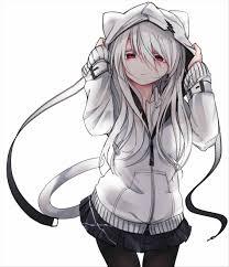 Aesthetic White Hair Anime Girl ...