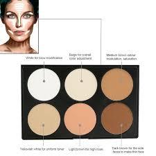 6 colors highlight bronzing face powder contour makeup palette skin tone corrector neutral