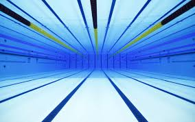 an underwater view of the london olympics swimming pool