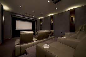 lighting ideas ceiling basement media room. Interior Some Wall Light Home Theater Ideas Basement Dark Brown Curved Sectional Sofa Combine Double Side Lighting Ceiling Media Room