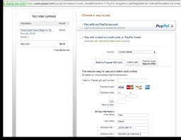 plete payment with paypal account or