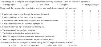A Survey Questionnaire Example Download Scientific Diagram