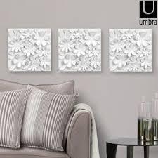 umbra wallflower wall decor white set:  ideas about umbra wall decor on pinterest miroirs dor charniare invisible and ampeacutechantillons de tissu