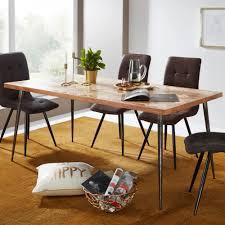 Finebuy Esstisch Holz Esszimmertisch Akazie Massiv Küchentisch Tisch Esszimmer
