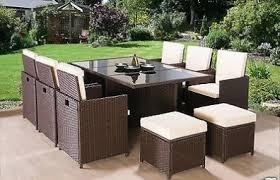 rattan garden furniture images. Brilliant Images 11 Piece Rattan Garden Furniture Set Throughout Images S