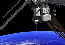 hello world beams video from space station via laser nasa this artist s concept shows how the optical payload for lasercomm science opals laser beams