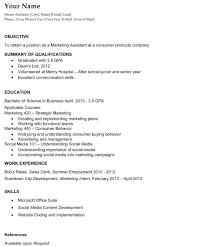 Resume Summary Of Qualifications College Graduate Therpgmovie