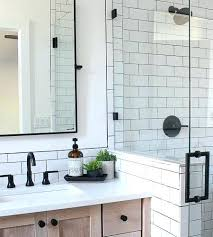 bathroom white subway tile a classic designed by our teenage son the house of silver lining