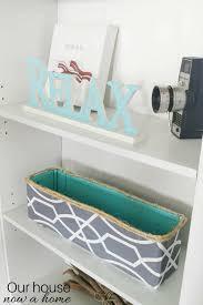 Cardboard Storage Box Decorative DIY decorative storage bin cardboard box upcycle Our House Now 82