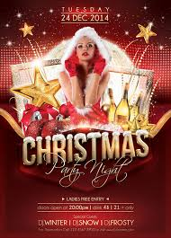 Work Christmas Party Flyers Christmas Party Flyer Template On Behance