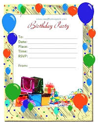 Birthday Party Invitation Card Template Birthday Card Invite