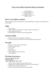 Office Resume Office Work