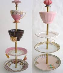 Jewelry Stands And Displays 100 best Jewelry Display Using Vintage Dishes images on Pinterest 76