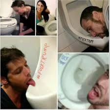 Licking ass in restroom stor