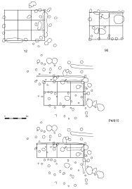 plans of building of frame construction against marked construction scientific diagram