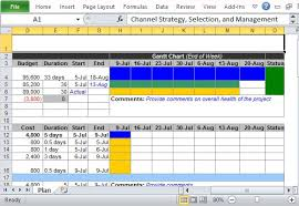 Marketing Plan Gantt Chart Template Channel Marketing Plan Maker Template For Excel