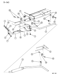 1994 chrysler town country exhaust system diagram 00000cha