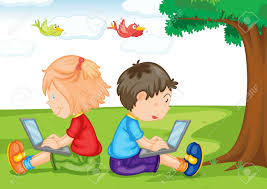 Image result for cartoon child on a laptop