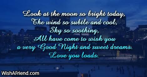 romantic good night messages for boyfriend