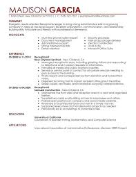Receptionist Resume Examples Custom Sample Resume Receptionist Car Dealership And Sample Resume For