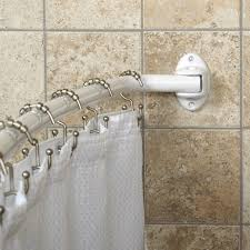 top never rust commercial grade aluminum curved white shower rod no rust shower curtain rod