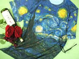 world painting van gogh t shirts t shirt men s short sleeve printed t shirt