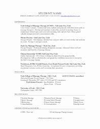 Massage Therapist Resume 100 Luxury Gallery Of Massage Therapist Resume Example Resume 19