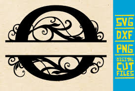 The split() method is used to split a string into an array of substrings, and returns the new array. Alphabet Floral Split Monogram O Graphic By Svgyeahyouknowme Creative Fabrica