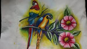 fabric painting birds leaves and flower painting part 1 leisha s galaxy you