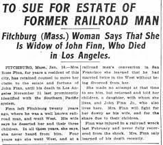 Rosa Maloney seeks estate from John J Finn, - Newspapers.com