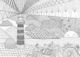 アンチ ストレスぬりえ大人の塗り絵の海ライン アート デザイン