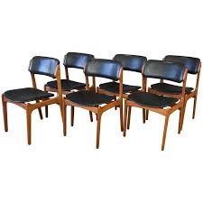 dining room smart leather dining room chairs elegant set of six erik buch for o d m