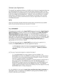 Sample Contract Amendment Template Printable Sample Loan Contract Template Form Laywers Template 18