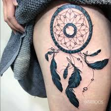 Dream Catcher Tattoo On Thigh 100 Gorgeous Dreamcatcher Tattoos Done Right TattooBlend 41