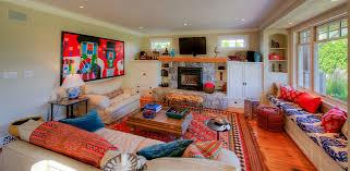 bohemian beach house beach style living room bohemian style living room