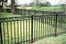 short wrought iron garden fence