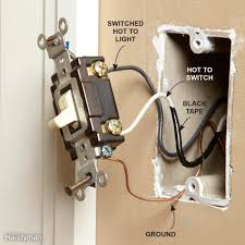 wiring outlets and switches the safe and easy way family handyman how to wire two separate switches & lights using the same power source at Wiring A Switch