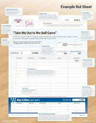 Sample Bid Sheets For Silent Auction Writing Item Descriptions For A Silent Auction Is Easier Than You Think