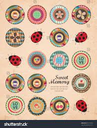 Art Design For Scrapbook Beautiful Cover Album Art Design Retro Stock Vector Royalty
