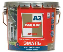<b>Эмаль алкидная PARADE А3</b> База А Бел.глянцевая 0.75л ...