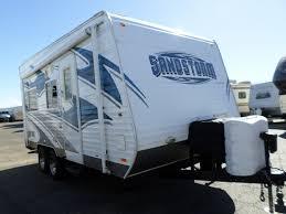 2016 forest river sandstorm toy hauler travel trailer 22