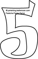 Small Picture Bubble Number 5 Coloring Coloring Pages