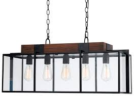 rectangular island light popular of rectangle pendant wooden throughout ideas 4