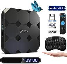 2018 Latest Android 7.1 TV Box S8 PRO Quad Core 2GB+16GB Android TV Box  Supporting 2.4G WiFi/ 4K (60HZ) Full HD/H.265 (Free Mini Keyboard) :  Amazon.ca: Electronics