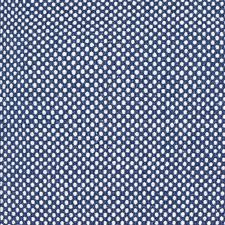 dots blue white cotton rug