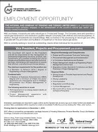 employment vice president projects and procurement ngc employment opportunities