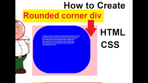 how to create rounded corner div how to border radius in css