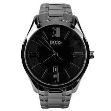hugo boss black 1513025 ambassador watch silver mainline menswear hugo boss black 1513025 ambassador watch silver