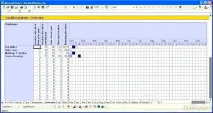 Holiday Spreadsheet Template Excel Tracker Template Vacation