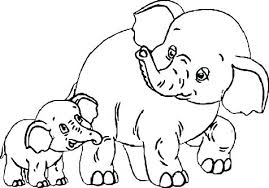 Baby Elephant Color Pages Irescueclub